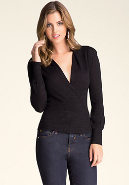 bebe Surplice Sweater Top