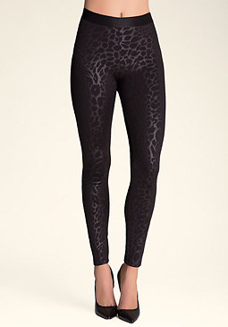 bebe Leopard Embossed Leggings