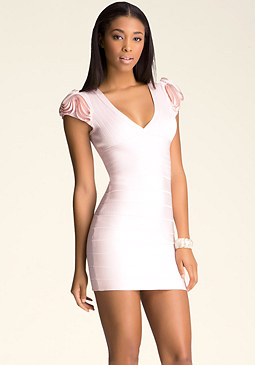 bebe Zip Detail Bandage Dress