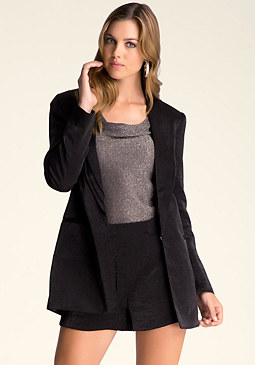 bebe Maggie Layered Lapel Jacket