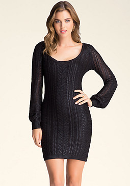 bebe Mini Cable Foiled Dress