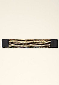 bebe Suede Chainlink Bracelet