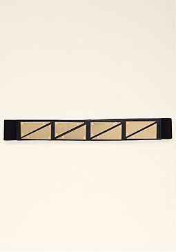 bebe Triangle Plate Belt