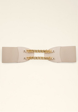 bebe Swag Chain Stretch Belt