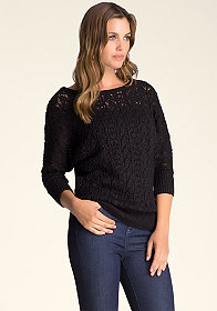 Dolman Knit Sweater at bebe