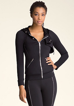 bebe Moto Detail Zip-Up Jacket