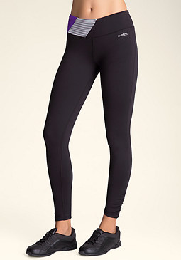bebe Ruched Colorblock Leggings