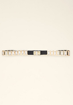 bebe Stone Turnlock Belt