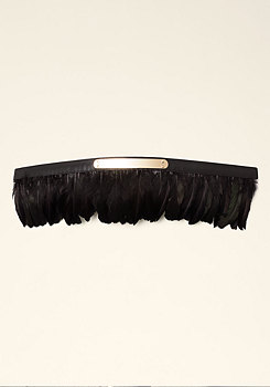 bebe Feather Peplum Belt