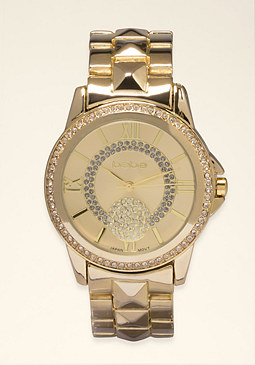 bebe Chrono Link Watch