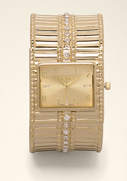 Stone Cuff Watch at bebe