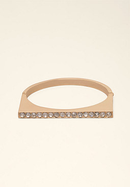 bebe Rhinestone Bar Bangle