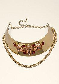 bebe Jewel Collar Necklace