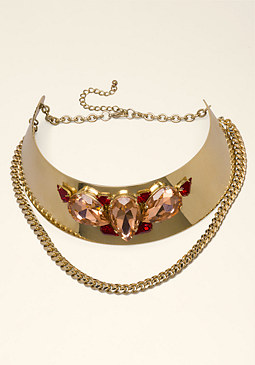 bebe Jewel Collar Necklace