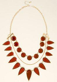 bebe Crystal Teardrop Necklace