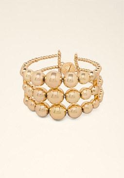 bebe Triple Row Beaded Bracelet