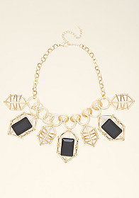 bebe Cutout Geometric Necklace