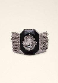 bebe Crystal Pendant Bracelet