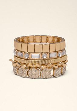 bebe Edgy Mix Stretch Bracelet