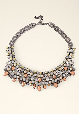 bebe Edgy Mixed Metal Necklace