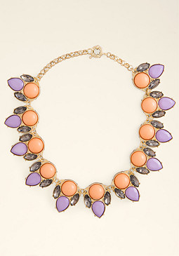 bebe Opaque Stone Necklace