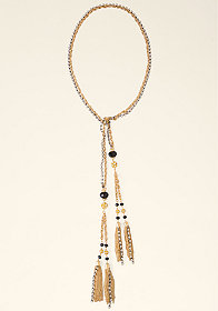 bebe Rhinestone Lariat Necklace