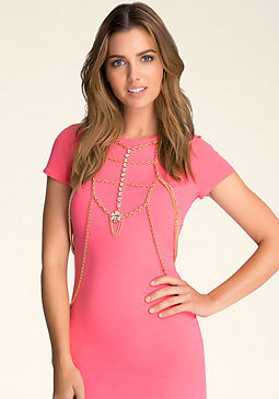 bebe Multi-Chain Body Jewerly