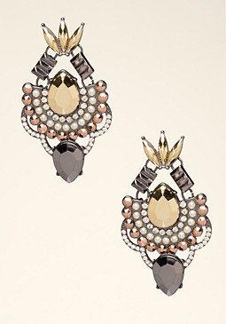 bebe Edgy Mixed Metal Earrings