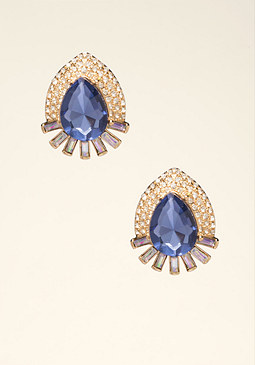 bebe Teardrop Stud Earrings