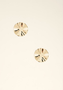bebe Wavy Circle Stud Earrings