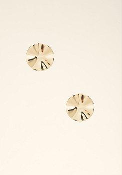 bebe Wavy Circle Stud Earrings