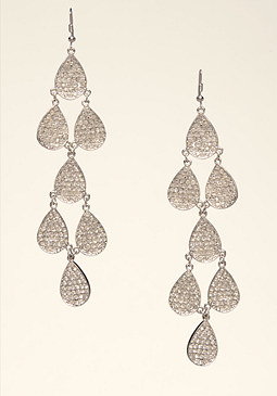 bebe Long Teardrop Earrings