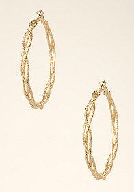 bebe Braided Hoop Earrings