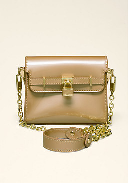 bebe Lydia Lock Crossbody Bag