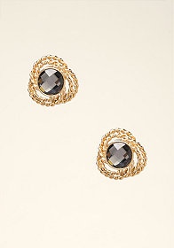 bebe Oversized Crystal Earrings