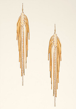bebe Snake Chain Duster Earrings