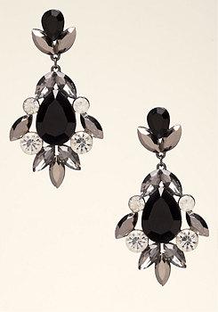 bebe Edgy Crystal Earrings