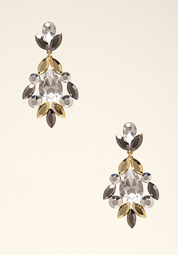 bebe Edgy Crystal Earrings