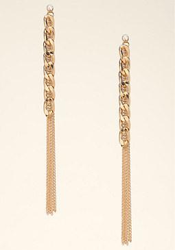 bebe Chain Duster Earrings