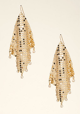 bebe Chain Statement Earrings