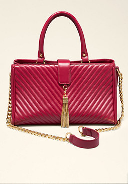bebe Amelie Quilted Satchel