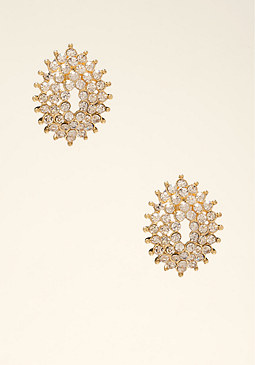 bebe Oversized Crystal Earrings