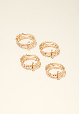 bebe Stackable 4-Ring Pack