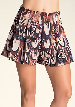 bebe Pleated Shorts