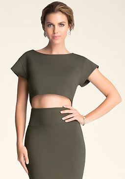 bebe Boxy Crop Top