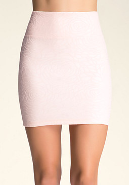 bebe Rose Textured Mini Skirt