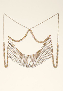bebe Draped Crystal Body Chain