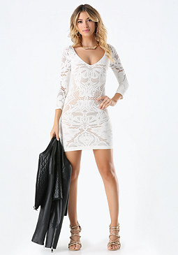 Nona Lace Dress at bebe