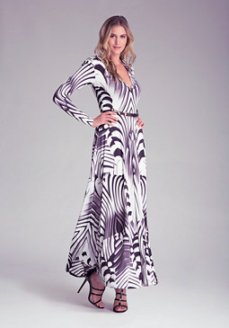 Petite Printed Maxi Dress at bebe