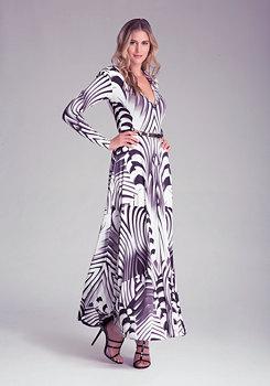 Petite Printed Maxi Dress at bebe